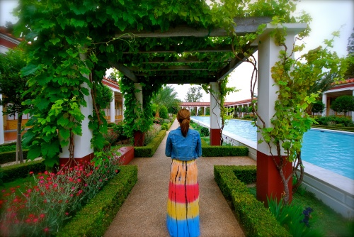 My beautiful birthday wife Rene @ Getty Villa